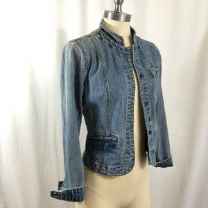 Mossimo Jean Jacket Fitted Light Wash Denim